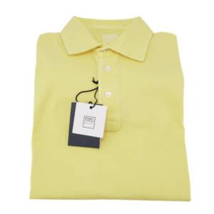 Polo Fedeli tessuto Piquet giallo (14°)