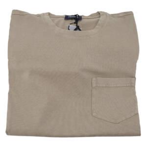 T-shirt Drumohr tinta unita fango