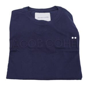 T-shirt Jacob Cohën con logo in rilievo blu