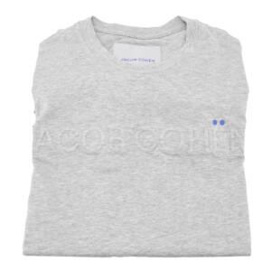 T-shirt Jacob Cohën con logo in rilievo grigio