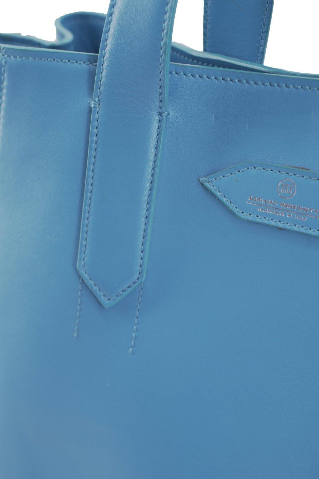 Borsa in pelle di vitello ed alce (azzurro)