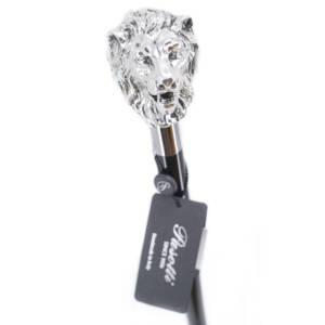 Bastone Leone argento