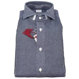 Camicia Bolzonella 1934 in denim scuro
