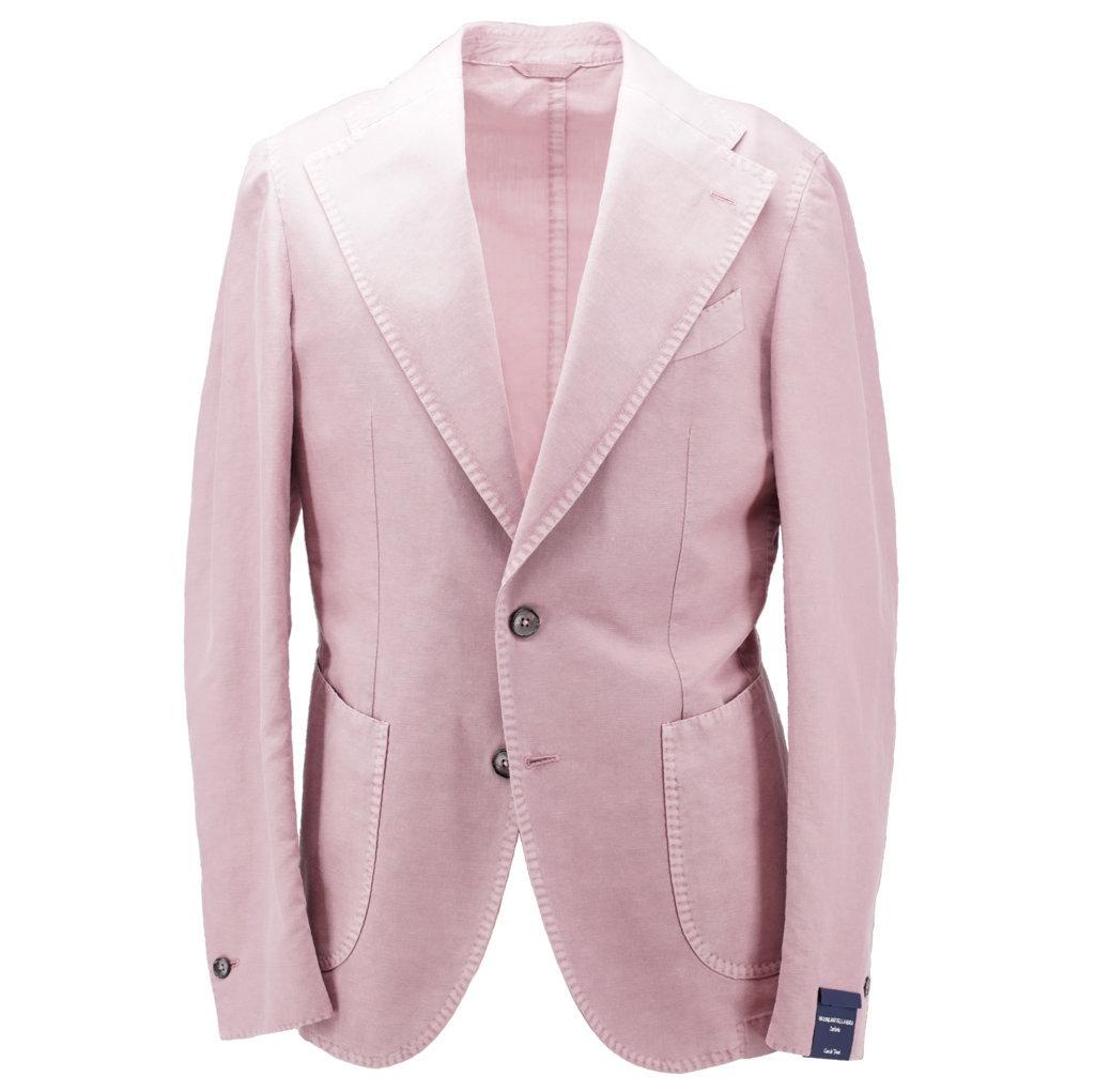 Giacca due bottoni rosa antico mezzo lino