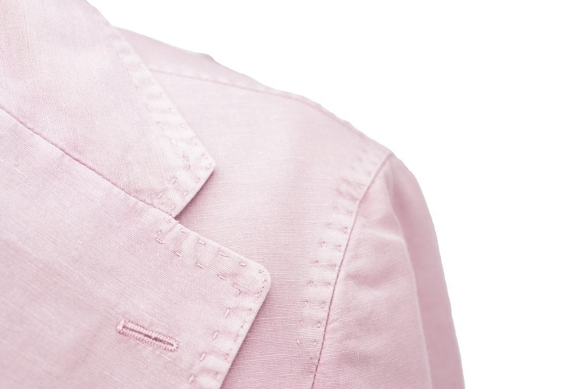 Giacca tinta unita rosa antico (dettaglio)