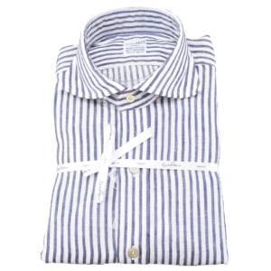 Camicia Enzo Pisano in misto lino a 500 righe