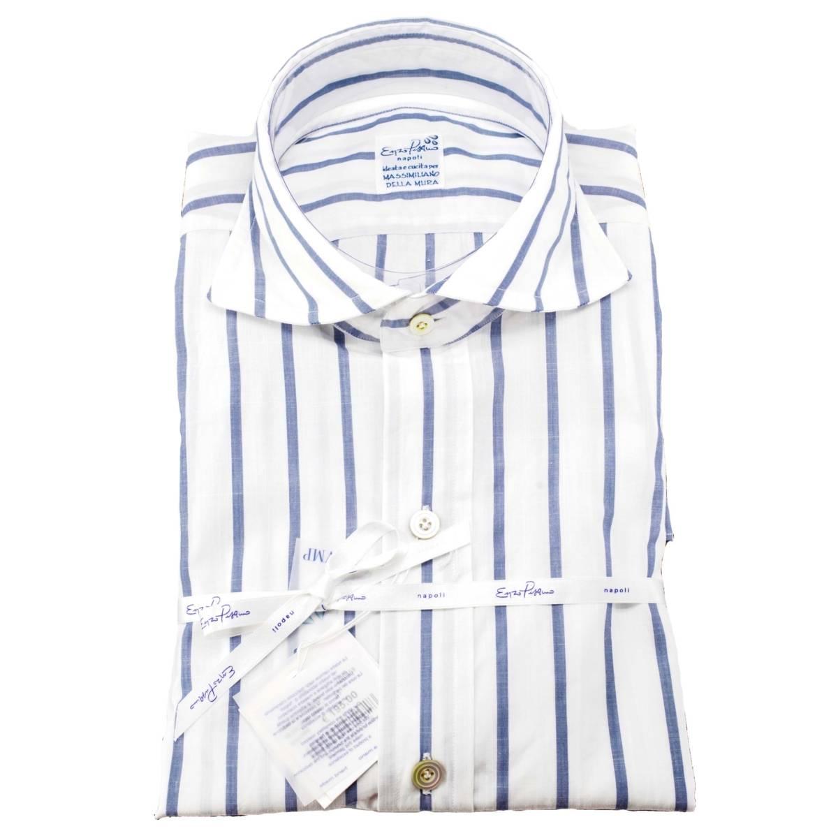 Camicia Enzo Pisano in misto lino a righe