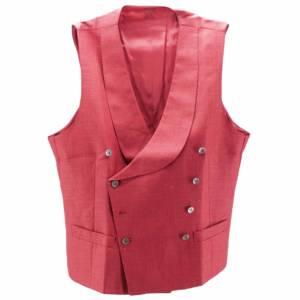 Gilet doppiopetto sciallato rosso rubino