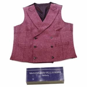 Gilet doppiopetto lana vergine rosa antico