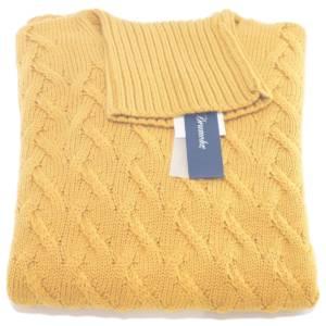 Dolcevita Drumohr a trecce in lana merino ocra