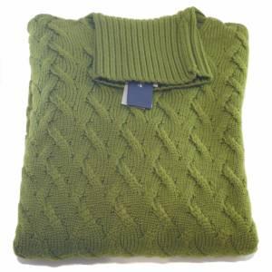 Dolcevita Drumohr a trecce in lana merino verde