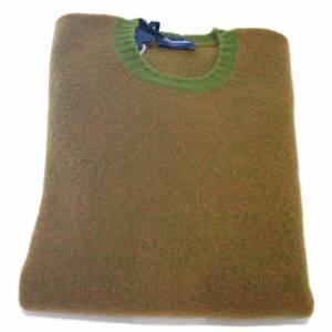 Maglione a girocollo Drumohr bicolore cammello