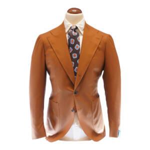 Giacca tre bottoni tessuto Vitale Barberis Canonico arancio