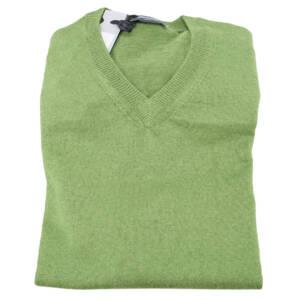 Maglia Drumohr scollo a v verde
