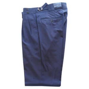 Pantaloni con doppia pence blu royal