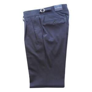 Pantaloni con doppia pince blu