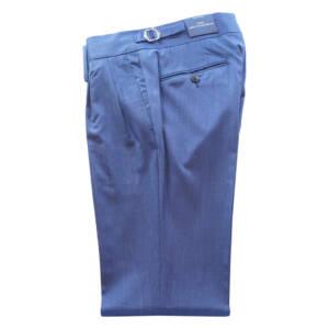 Pantaloni con doppia pince blu navy
