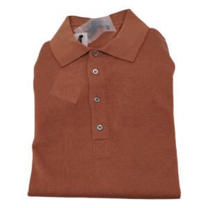 Polo Drumohr modern in lana merino mattone