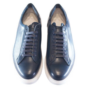 Sneakers Barrett in pelle blu