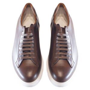 Sneakers Barrett in pelle marrone