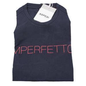 T-shirt Aspesi con stampa lettering